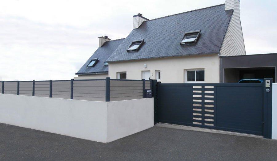 Images 1 60 portails design for Portail garage sur mesure